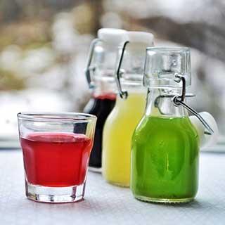 Saftflaschen